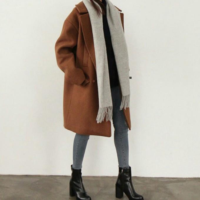 Jeans Coat Tumblr Coat Jeans Cute Girl Long