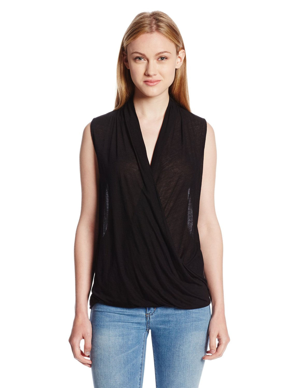 LAmade Women's Juliet Sleeveless Wrap Blouse at Amazon Women's Clothing store: