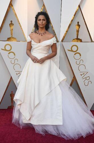 dress white white dress gown camila alves red carpet dress oscars 2018