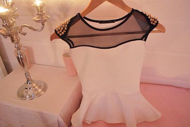 blouse studs peplum