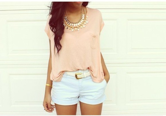 jewels diamond blouse peach