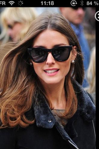 sunglasses olivia palermo black retro sunglasses