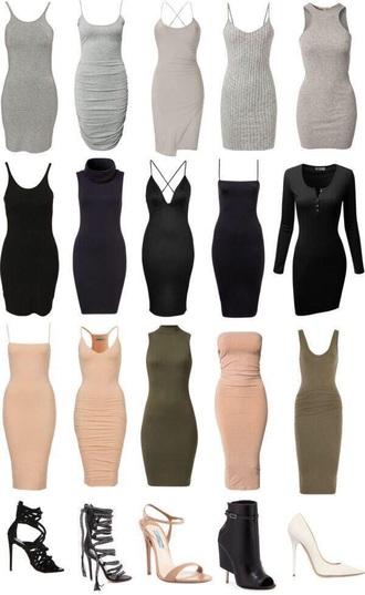 dress bodycon dress grey dress