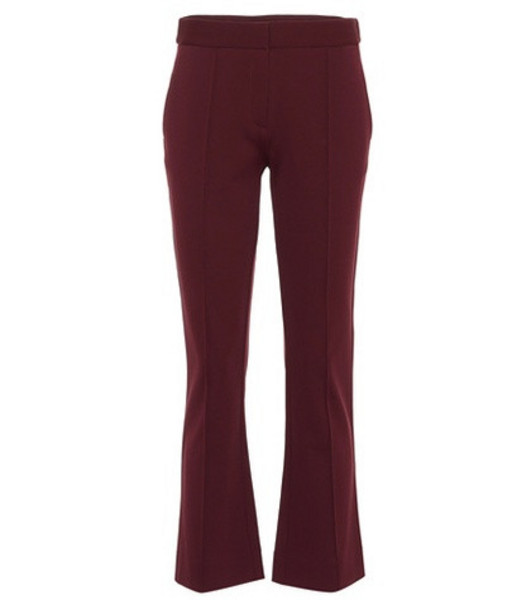 Diane von Furstenberg Mid-rise cropped bootcut pants in purple