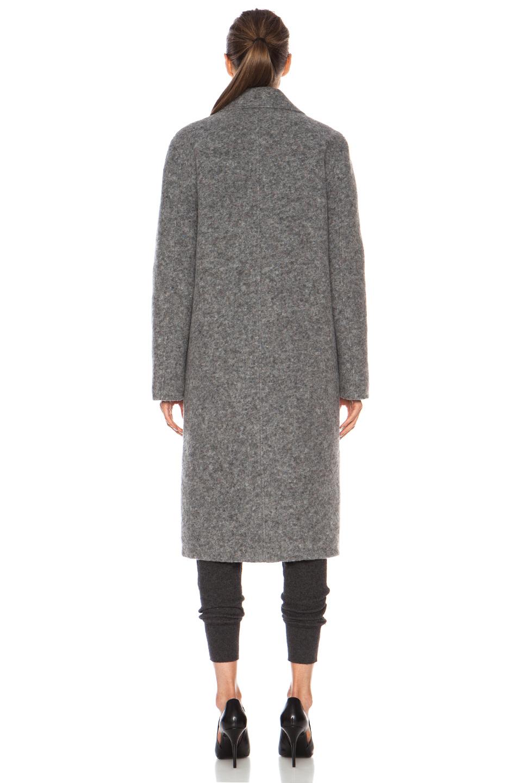 T by Alexander Wang | Reversible Wool-Blend Coat in Grey & Moss