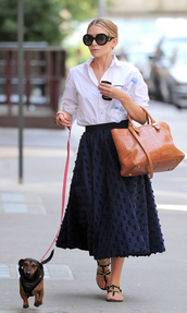 skirt,ashley olsen,olsen sisters,shirt,sunglasses