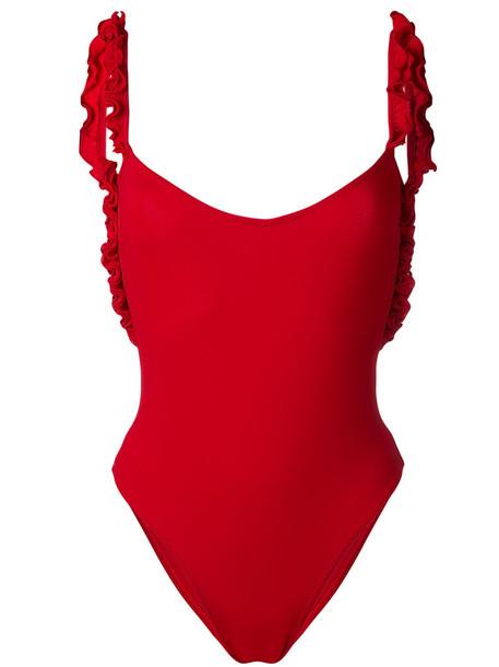 LA REVECHE women spandex red swimwear