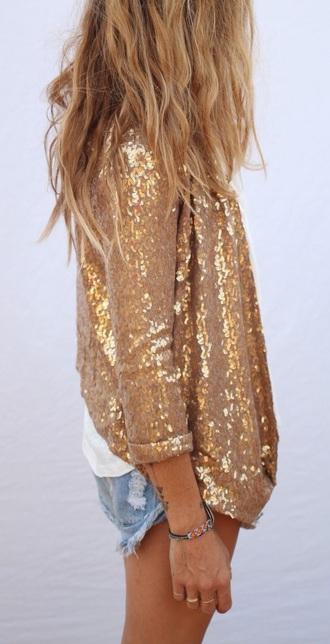 blouse shirt sparkle glitter gold summer concert boho punk yellow mellow cute