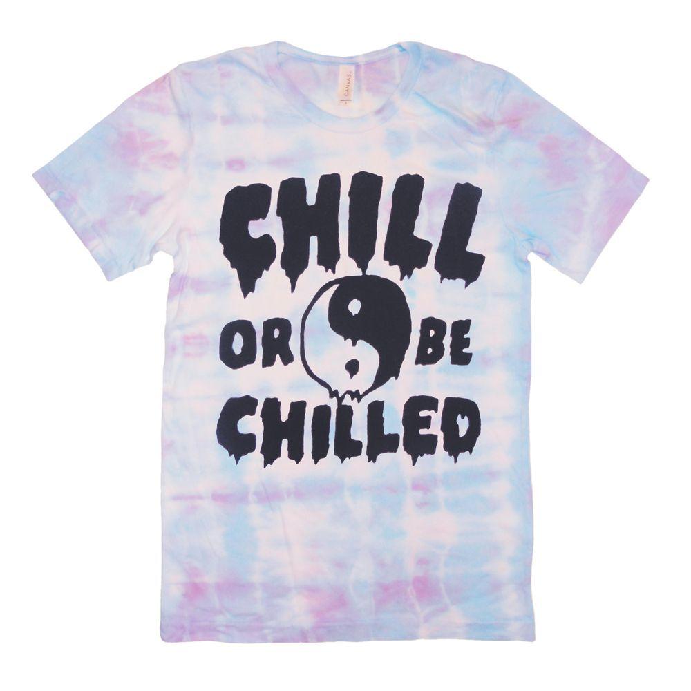 Killer Condo Chill or Be Chilled Tie Dye T Shirt Yin Yang Pastel 90's Grunge Tee | eBay