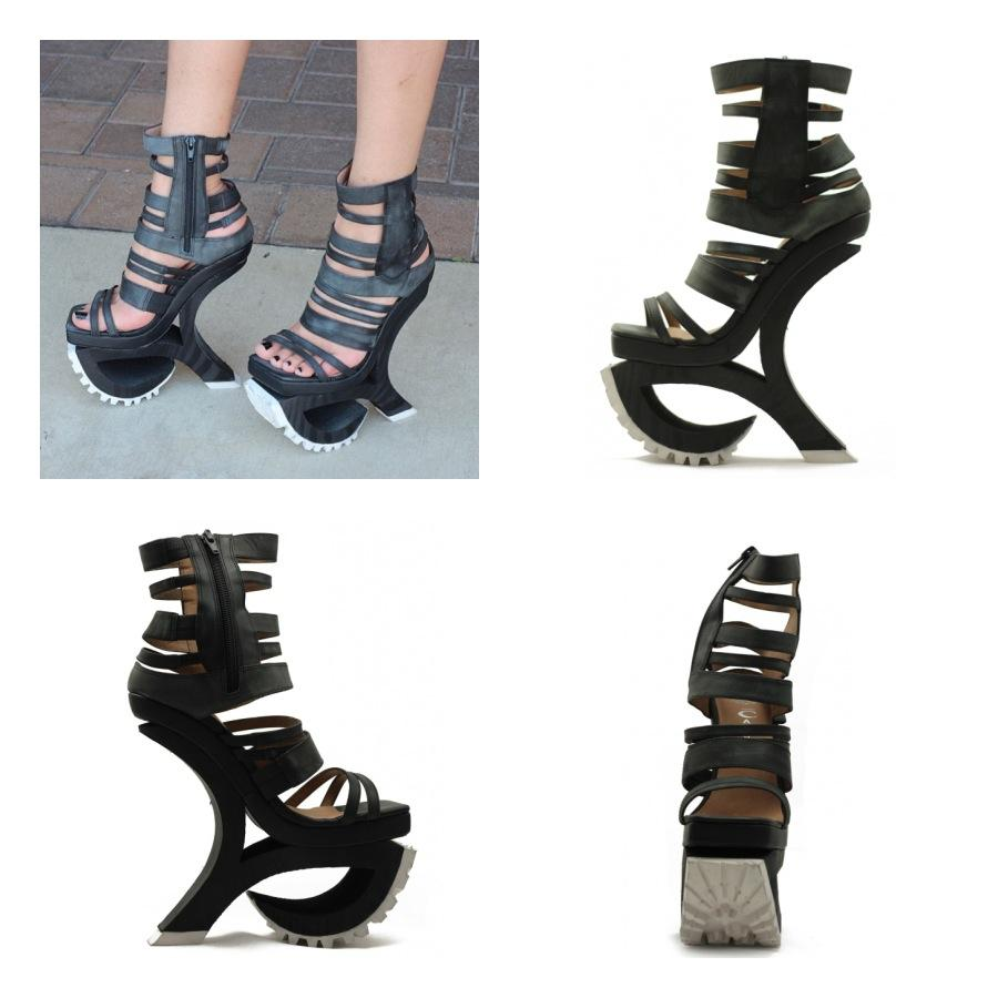 Jeffrey Campbell Black & White Exempt Platform