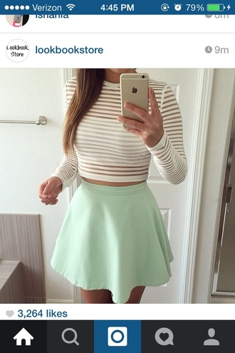 top crop tops style fashion girly girl shirt sheer white crop tops skirt