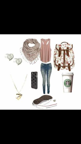 earing bag scarf backpack starbucks heart phone case