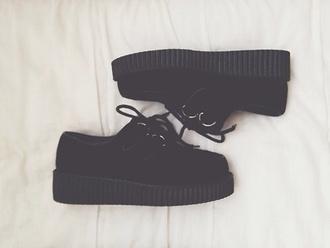 shoes grunge pastel goth goth work uniform black shoes