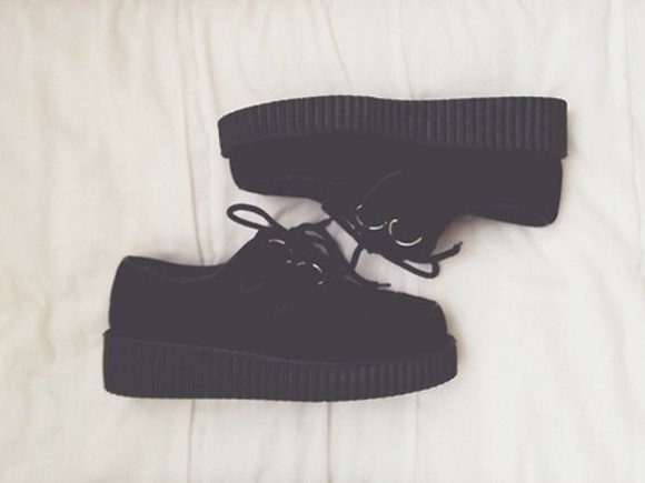 work grunge pastel goth goth uniform black shoes shoes
