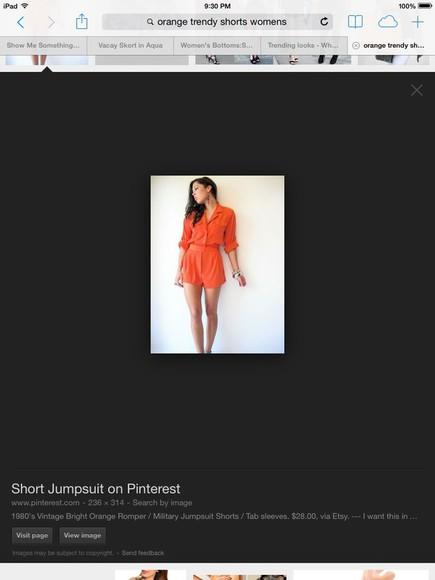 orange shorts
