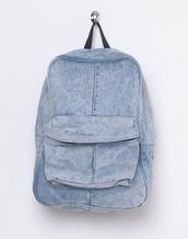 bag,denim,rucksack,backpack,travel,hipster,back to school,denim backpack,summer sports
