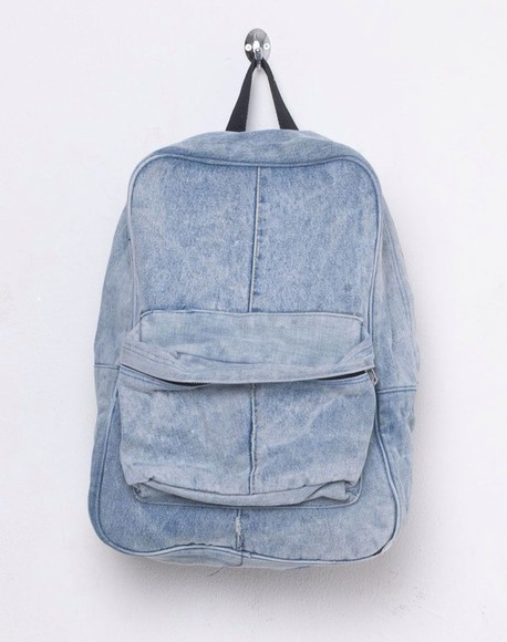 bag backpack denim school hipster rucksack travel
