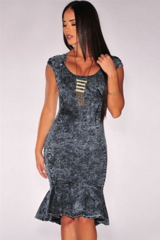 dress mermaid prom dress dark denim sexy denim dress denim mermaid dress wots-hot-right-now denim denim dress mermaid plunge neckline sleeveless sexy dress celebrity style casual