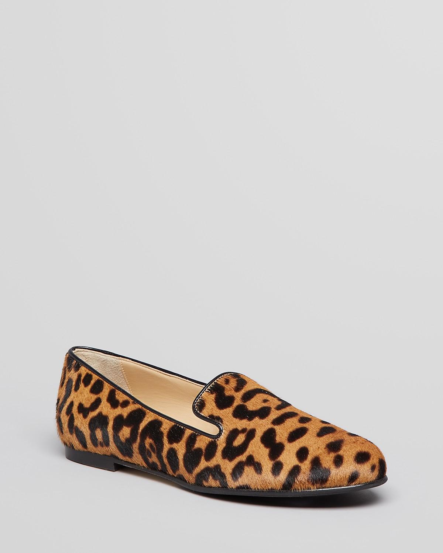L.K.Bennett Smoking Flats - Lisa Leopard Print | Bloomingdale's