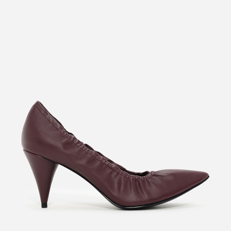Burgundy Fitted Pump Heels | CHARLES & KEITH