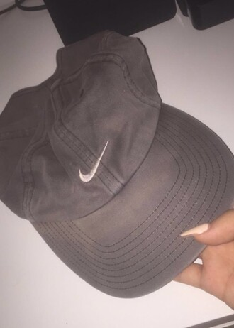 hat nike cap basecap vintage nike cap grey grey cap