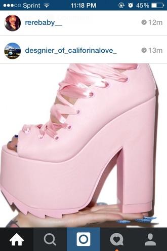 shoes harajuku satin lace pink high heels platformshoes pink shoes baby pink high heels style heels cute shoes