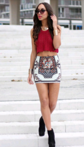 skirt,multi color,pencil skirt,mini skirt,tank top,jewels,shoes,top,shirt