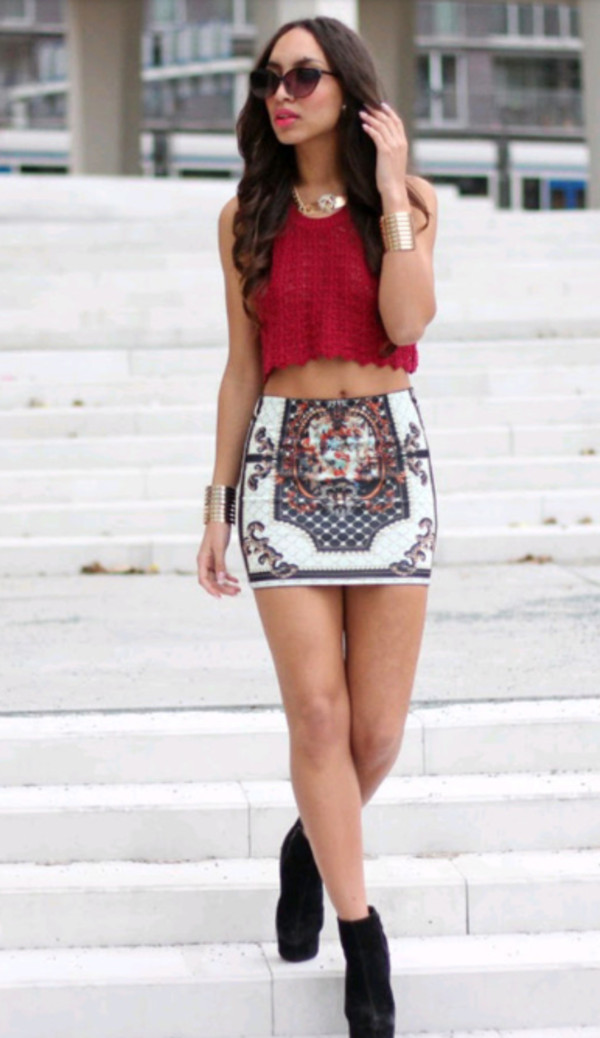 skirt multi color pencil skirt mini skirt tank top jewels shoes top shirt