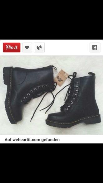 shoes black drmartens grunge shoes