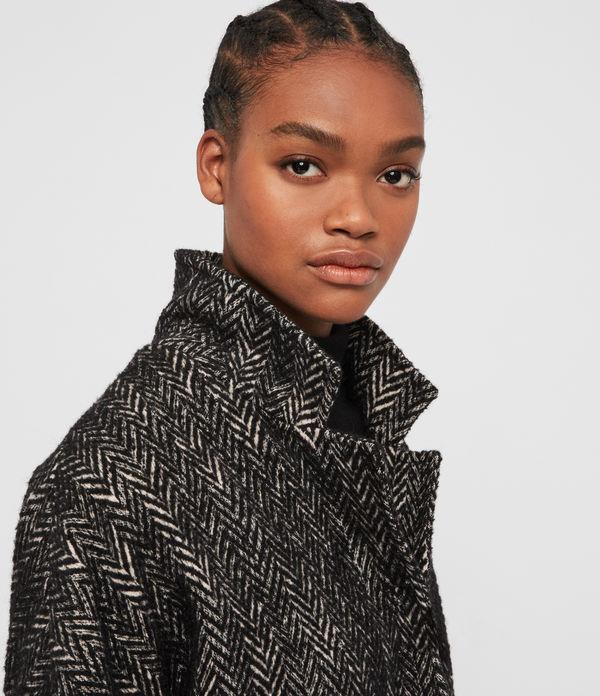 Teya Herringbone Coat