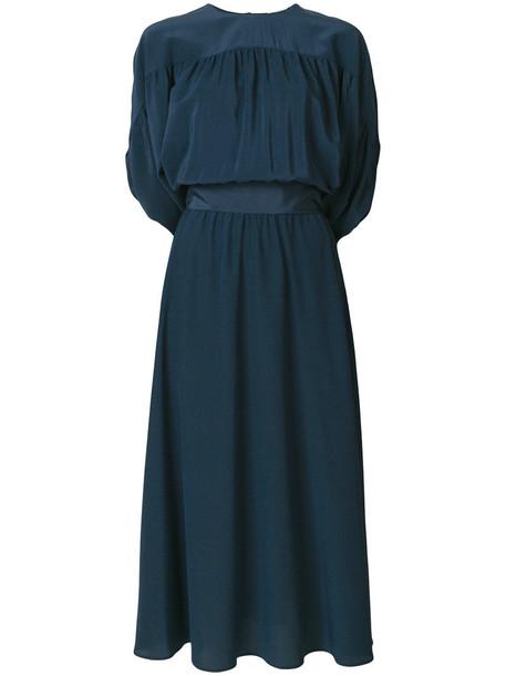 RED VALENTINO dress women blue silk