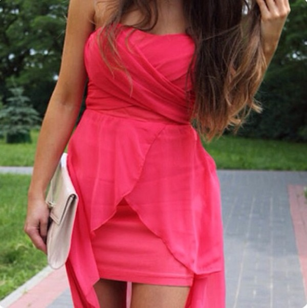 dress pink dress short party dresses pretty girly