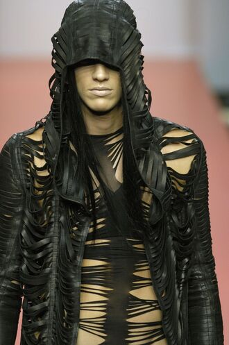 jacket clothes post apocalyptic apocolypse black fashion sexy burning man grunge style fashion sexy jacket