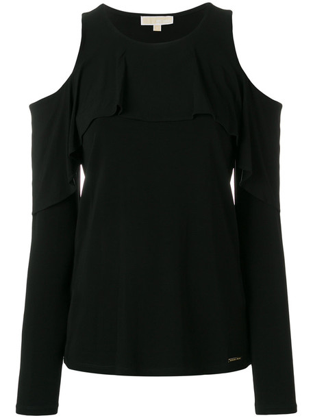MICHAEL Michael Kors top women spandex cold black