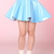 Glitters For Dinner — Made To Order - Blue PVC Skater Skirt