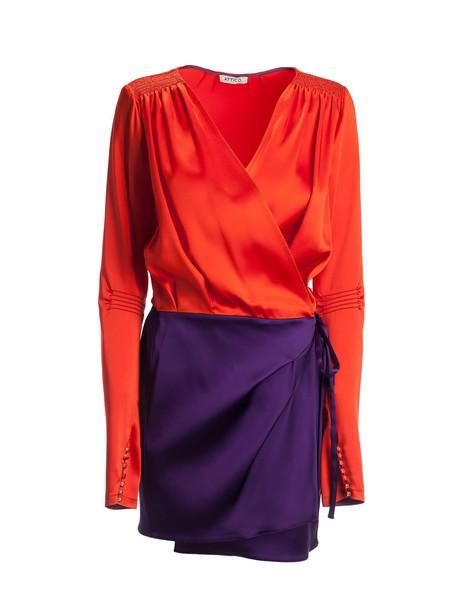 Attico dress flare dress flare fit violet red