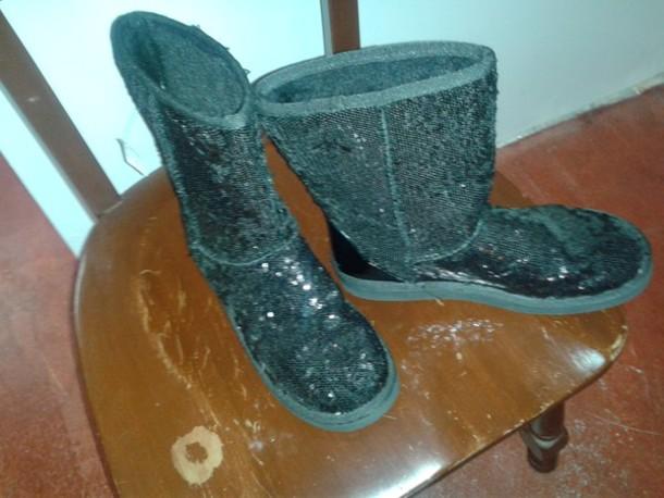 shoes black boots sequins