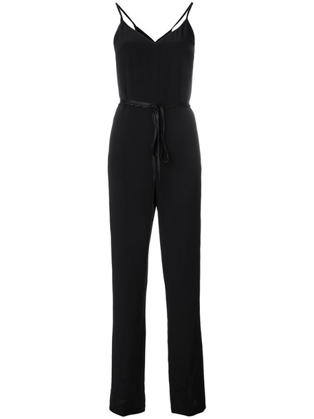 Rag & Bone jumpsuit strappy women black silk