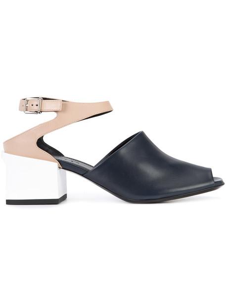 Jil Sander women sandals leather blue shoes