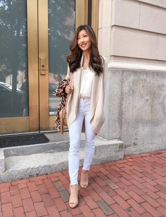 extra petite blogger tank top cardigan bag jewels scarf jeans