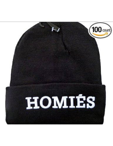 Homies Beanie (Black with White Logo) on Wanelo