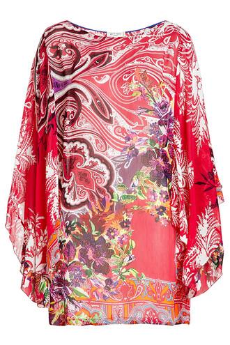 tunic silk multicolor top