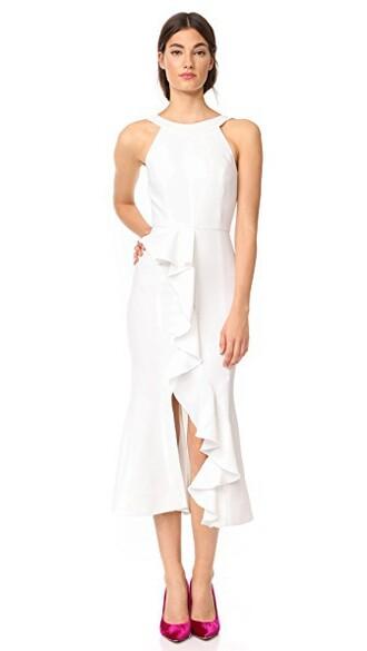 dress ruffle dress asymmetrical ruffle