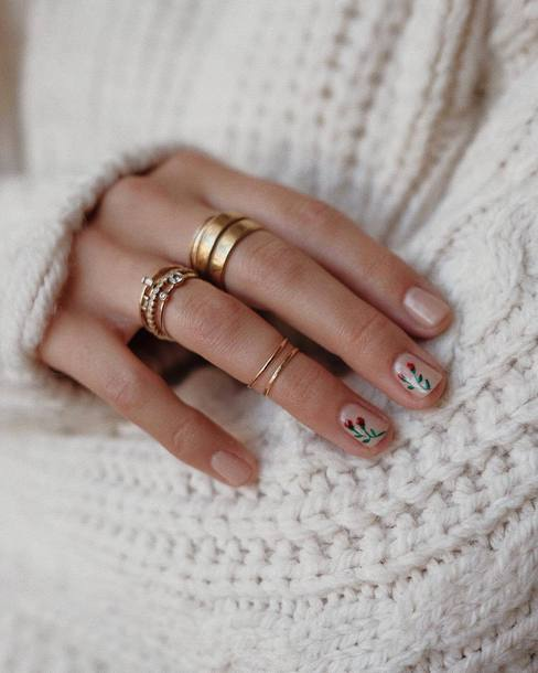 jewels tumblr jewelry accessories Accessory gold ring nail polish nail art nails knuckle ring