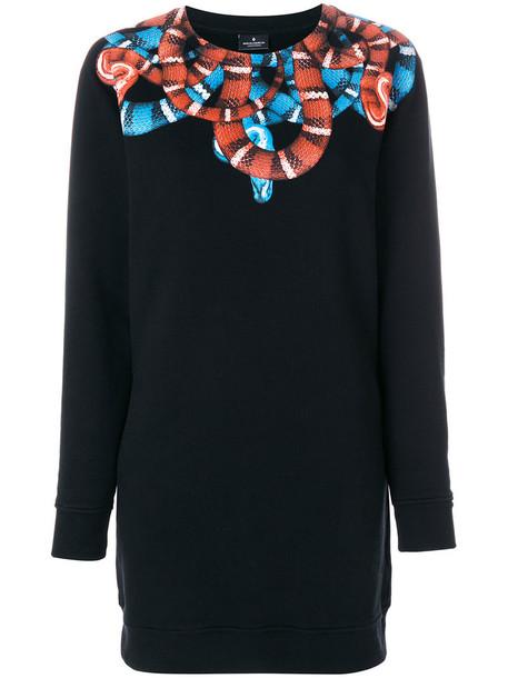 MARCELO BURLON COUNTY OF MILAN sweatshirt crewneck sweatshirt long women cotton black sweater