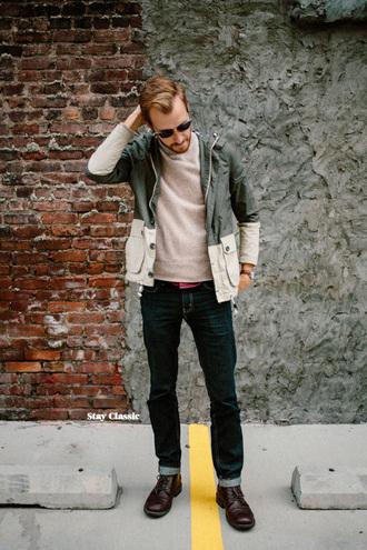 stay classic blogger jeans mens coat menswear hipster menswear mens windbreaker mens straight jeans