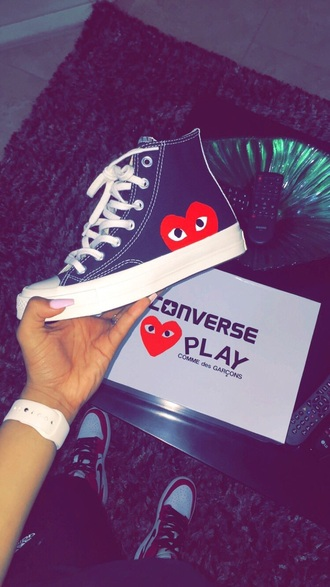 shoes converse comme des garcon high top sneakers