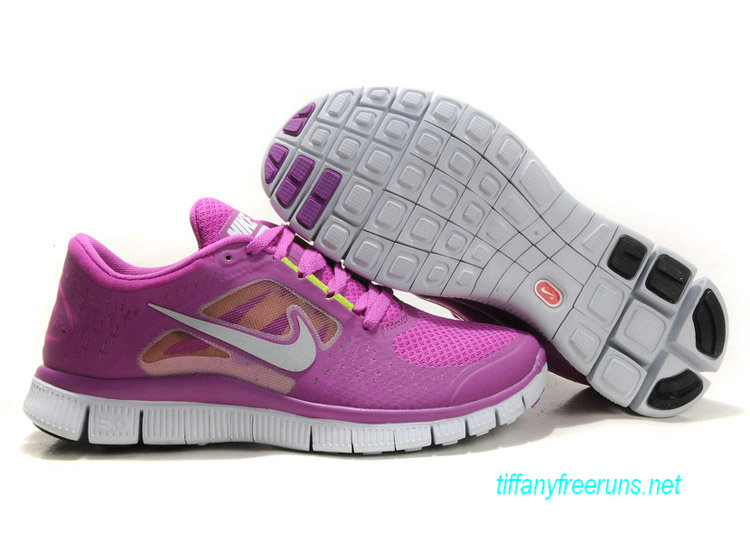 Womens Nike Free Runs 3 Magenta Reflective Silver Pro Platinum Violet Shoes [Tiffany Free Runs 564]-$51.84|Tiffanyfreeruns.net