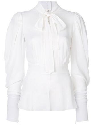 blouse women spandex white silk top