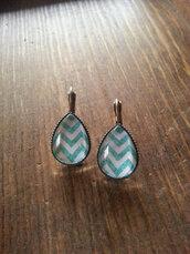 jewels,the glitzy hen,chevron,chevron earrings,dangle earrings,bronze earrings,drop earrings,turquoise,turquoise jewelry,turquoise earrings